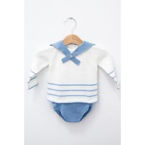 Set tricot cu bluziță și chiloțel