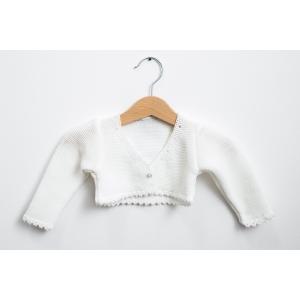 Bolero alb din tricot