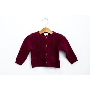 Cardigan bordo din tricot