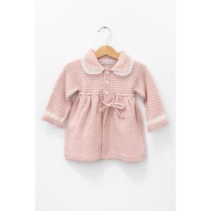 Jachetă roz din tricot