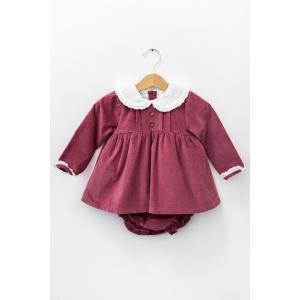 Rochie de culoarea plămâniu din catifea