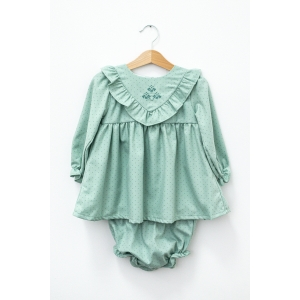 Rochie verde cu chiloțel