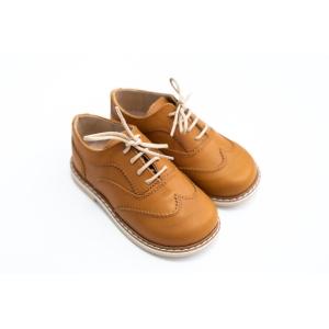 Pantofi Oxford maro din piele