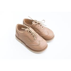 Pantofi Oxford crem închis din piele