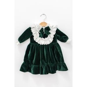 Rochiță verde de catifea