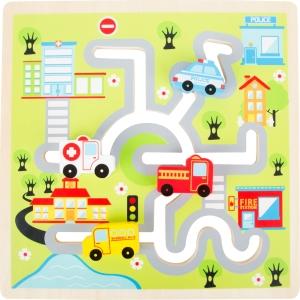 Puzzle labirint de oraș