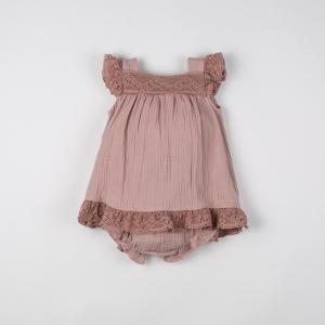Rochie din muselină cu chiloțel culoarea plămâniu